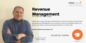 Revenue management vacacional.Nuevo Taller de 2 horas en Palma