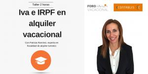 Taller de IVA e IRPF en alquiler vacacional